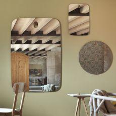 Bigger Brothers & Co - Miroir design Miniforms, ronde ou rectangulaire, disponible en différentes dimensions