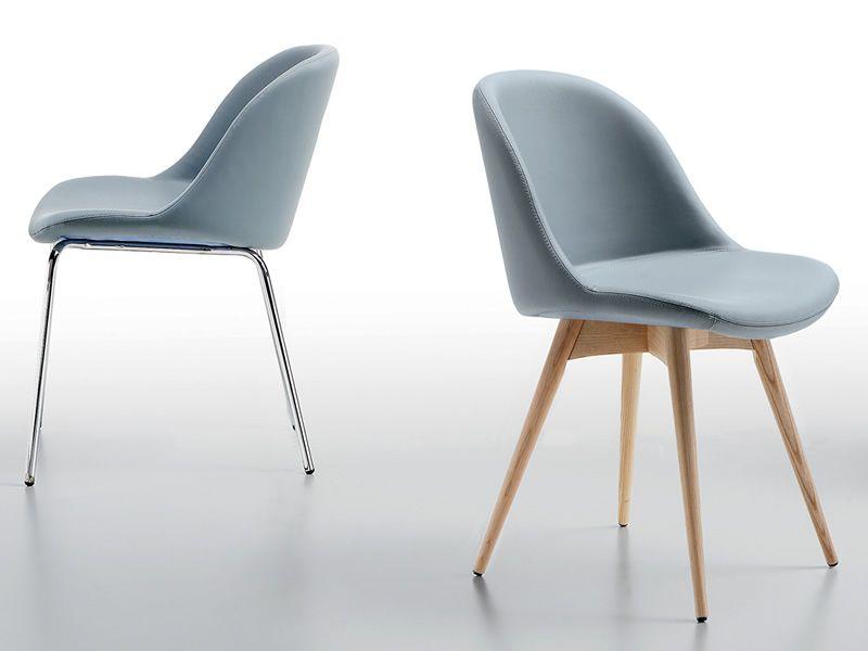 sonny lg stuhl midj aus holz sitz aus leder kunstleder oder stoff bezogen sediarreda. Black Bedroom Furniture Sets. Home Design Ideas