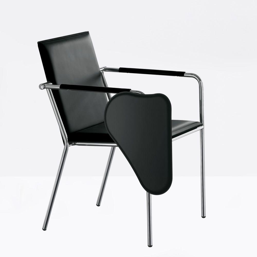 vivo cu stuhl mit armlehnen midj aus metall und leder auch mit tafelchen dabei sediarreda. Black Bedroom Furniture Sets. Home Design Ideas