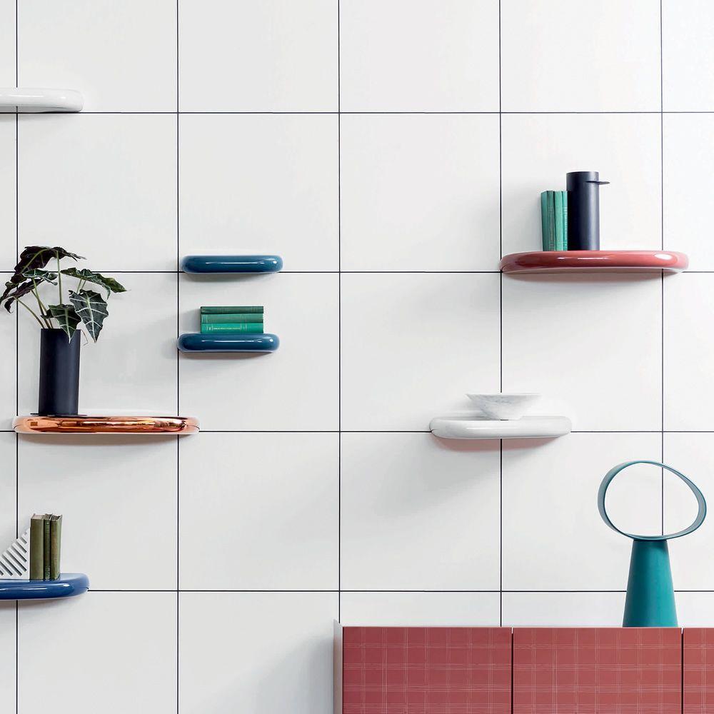 Mensole A Parete Regolabili In Altezza.Pinna Mensola Da Parete Miniforms In Ceramica Diverse Misure
