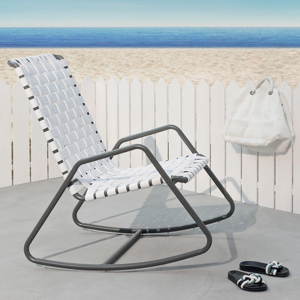 inout 809 f fauteuil bascule gervasoni en aluminium avec assise en pvc aussi pour le jardin. Black Bedroom Furniture Sets. Home Design Ideas