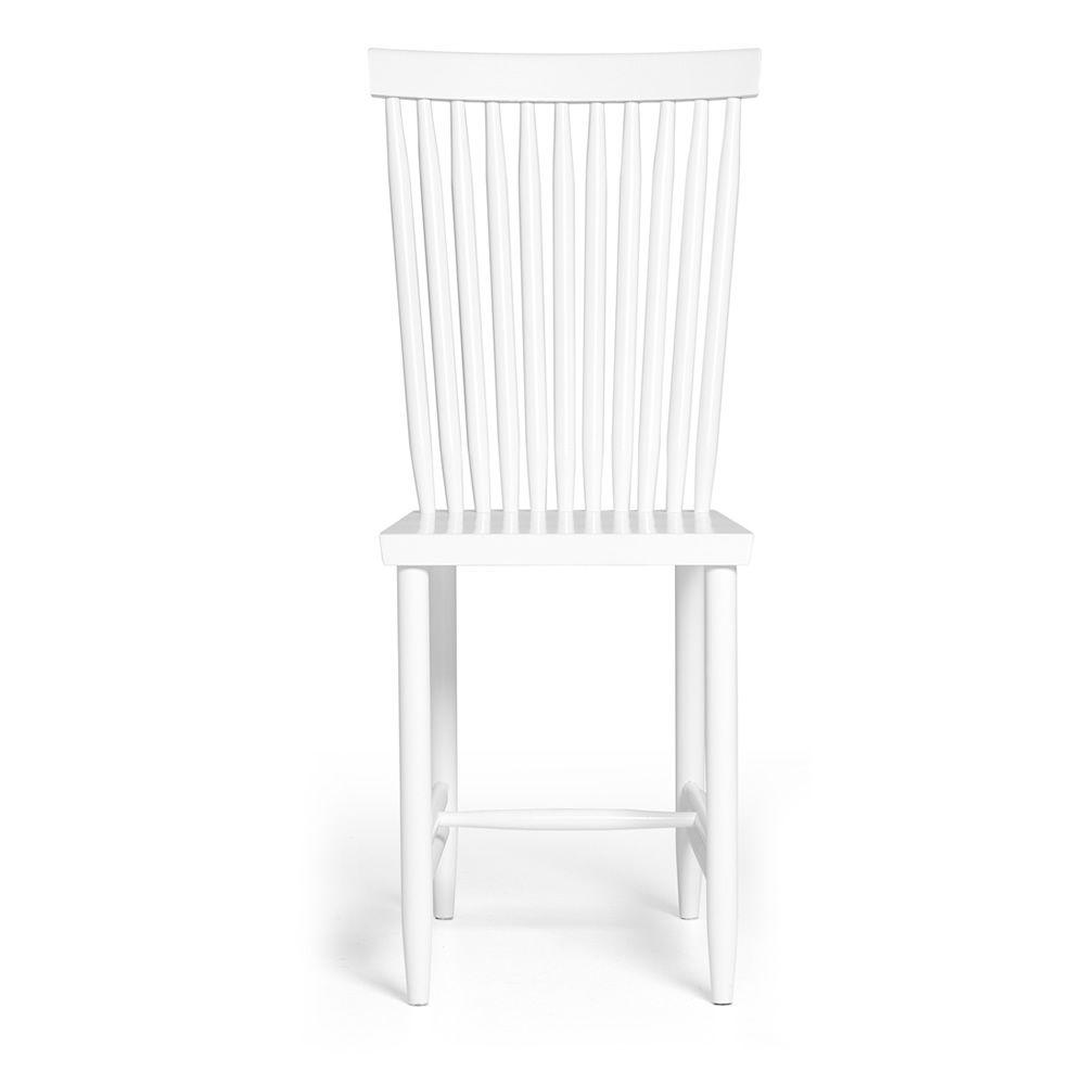 Family No.2 - Sedia in legno di faggio laccato bianco o nero, schienale alto ...