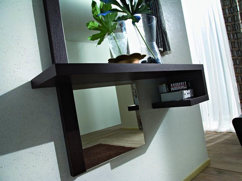 Pa252 mobile ingresso moderno con specchio e appendini diversi colori sediarreda - Consolle con specchio per ingresso ...