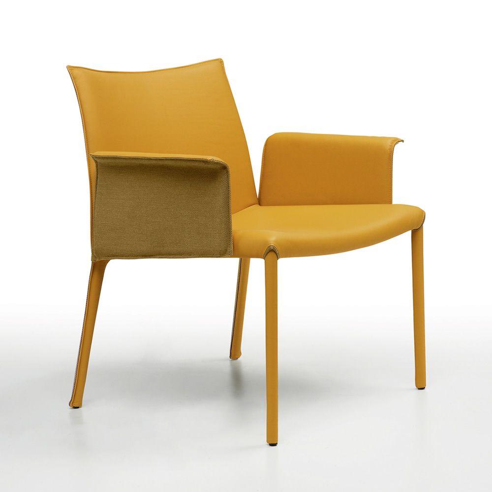 Nuvola p silla con reposabrazos midj totalmente for Sillas con reposabrazos