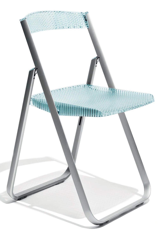 Honeycomb chaise pliante kartell structure en aluminium et assise en polyca - Chaise en polycarbonate ...