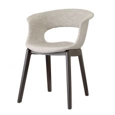 Natural Miss B Pop 2802 - Wooden chair with padded seat, available in different colours