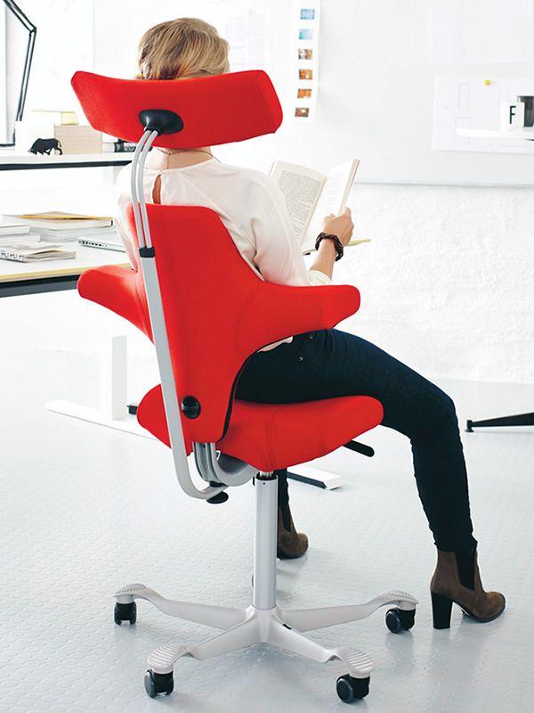 capisco 8107 ergonomischer b rostuhl von h g settelf rmigem sitz und kopfst tze sediarreda. Black Bedroom Furniture Sets. Home Design Ideas