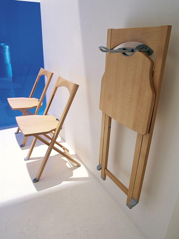 Cs208 olivia chaise pliante calligaris en bois en - Table pliante au mur ...