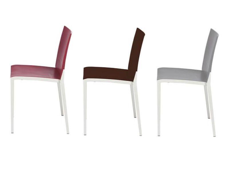 Over per bar e ristoranti sedia bicolore impilabile per for Sedia design marrone