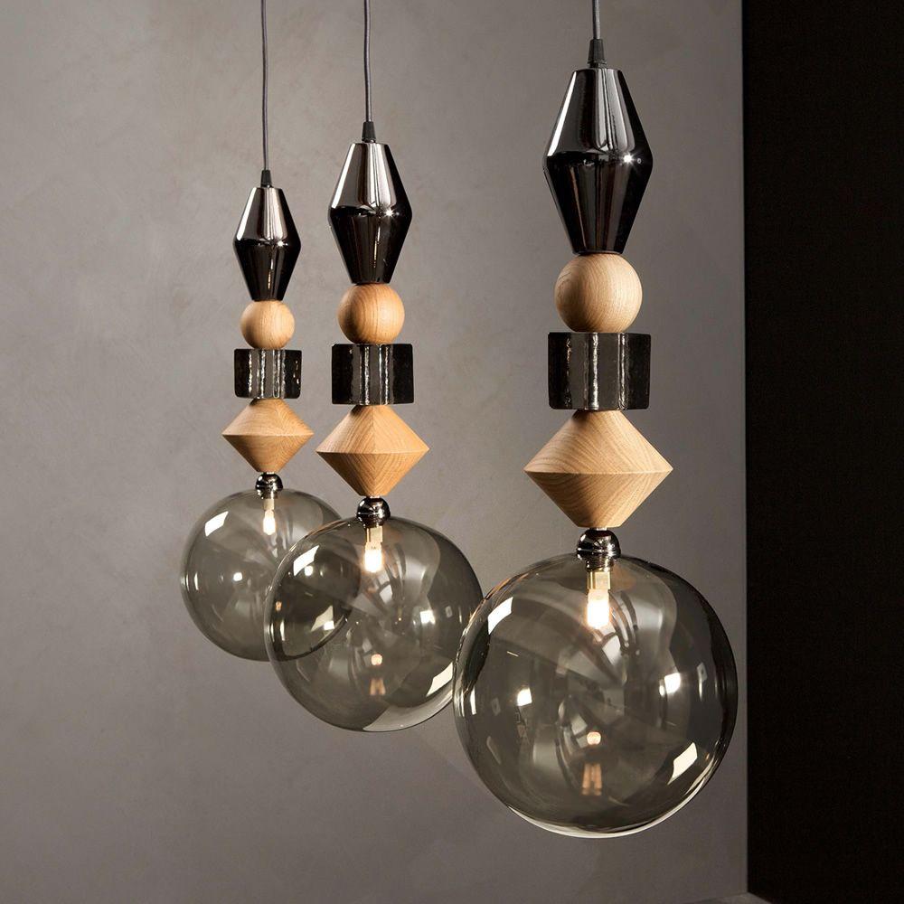 Pandora 9109 lampe suspension tonin casa en verre et for Lampe suspension verre