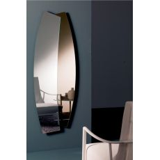 Double - Geschwungener, zweifarbiger Spiegel Bontempi Casa, mit horizontaler oder vertikaler Ausrichtung