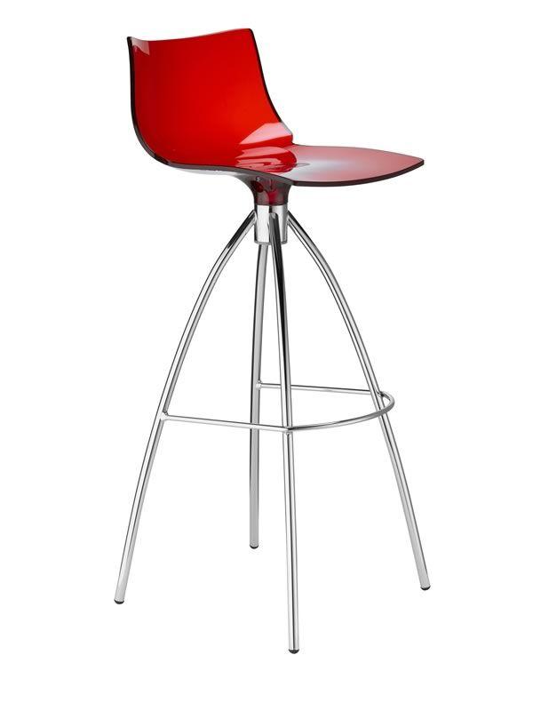 daylight s 2293 f r bars und restaurants design barhocker aus stahl und polycarbonat sitzh he. Black Bedroom Furniture Sets. Home Design Ideas