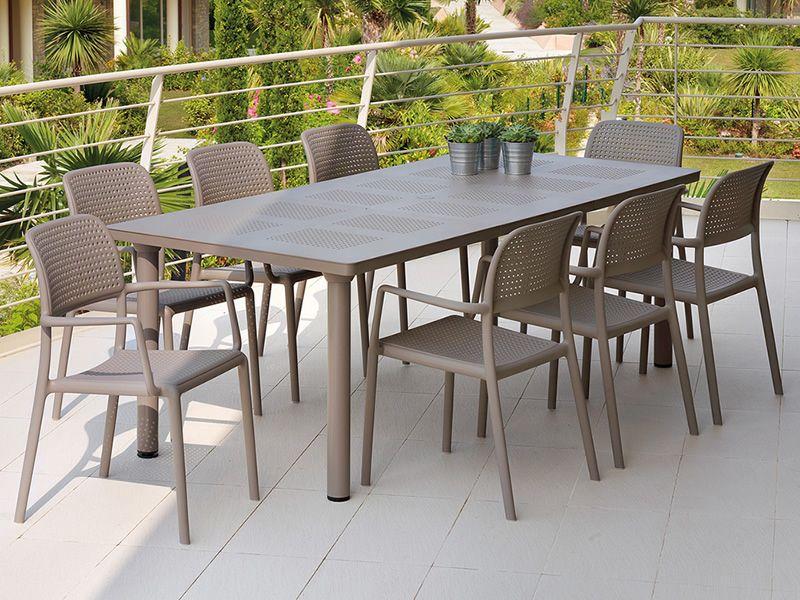 Libeccio tavolo allungabile in metallo piano in resina for Tavolo da terrazzo allungabile