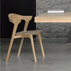 Bok - Sedia in legno di rovere, diverse finiture disponibili