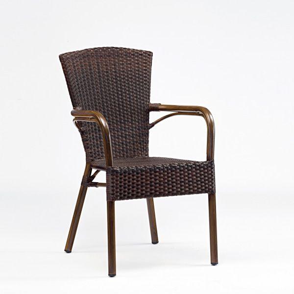 tt958 pour bars et restaurants chaise d 39 ext rieur avec accoudoirs en aluminium et. Black Bedroom Furniture Sets. Home Design Ideas