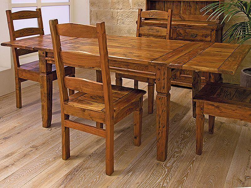 Prado t tavolo allungabile in legno disponibile in for Tavolo rustico legno