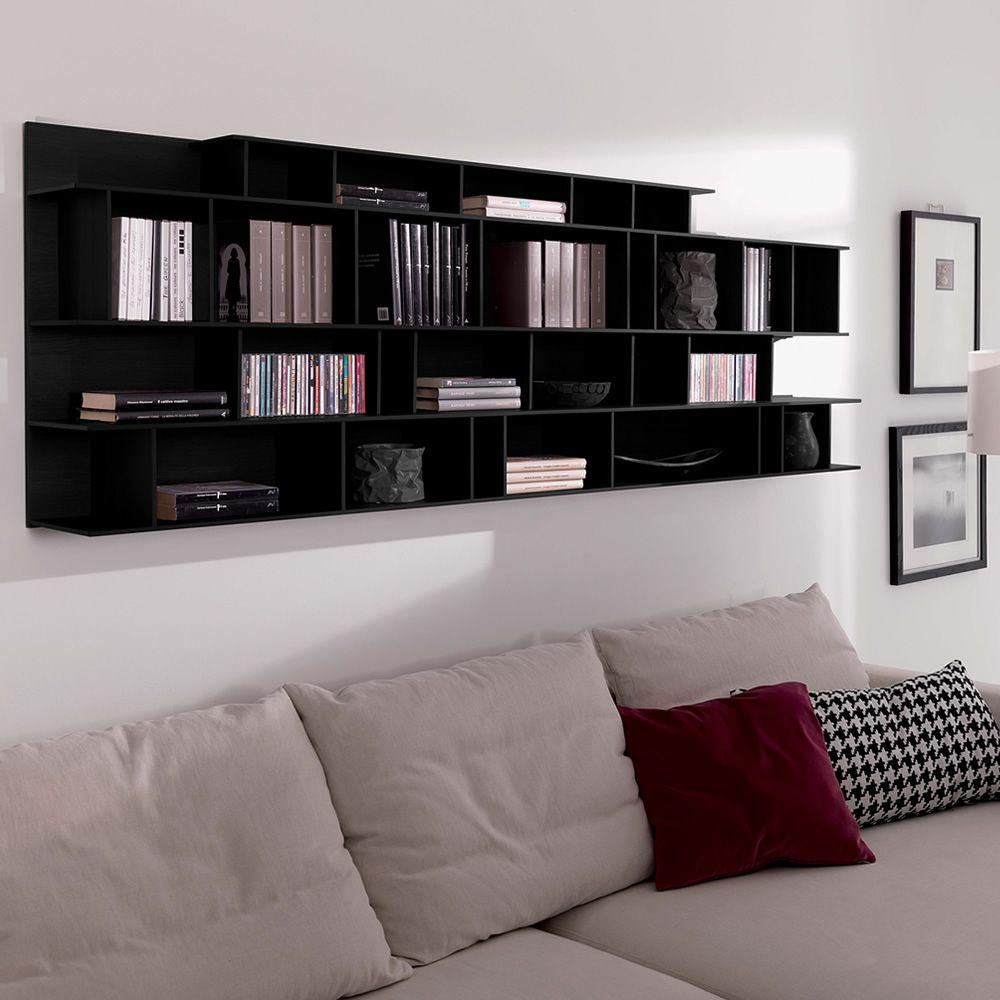 Byblos o libreria modulare da parete in legno - Libreria a parete ...