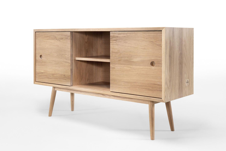 Classic mobile da soggiorno in legno con ante for Mobile basso soggiorno