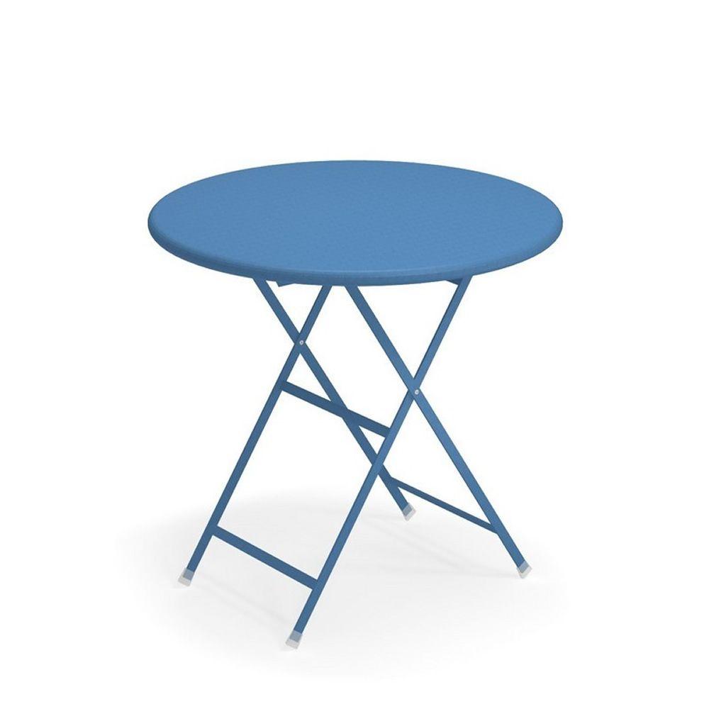 Arc En Ciel Tavolo Pieghevole.Arc En Ciel 346 Emu Table In Metal Folding Available With