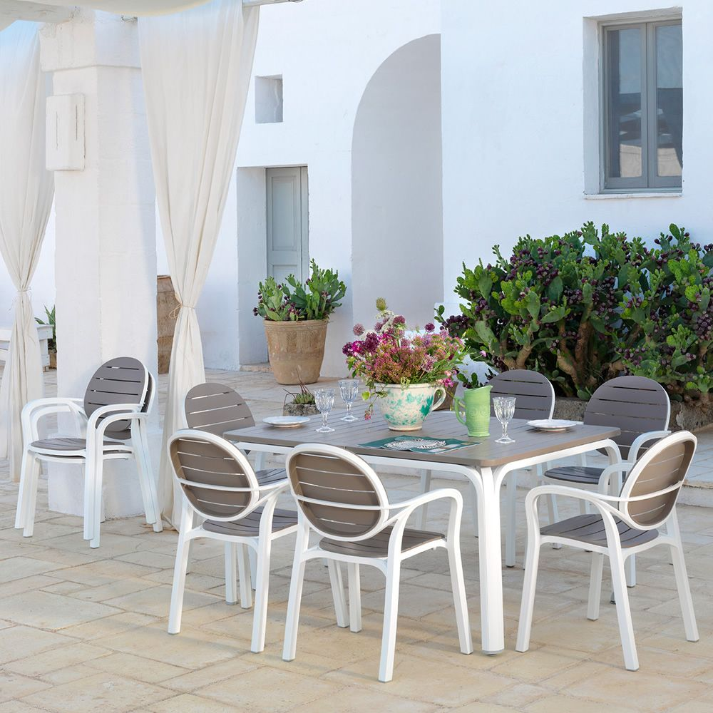 Alloro Palma Set Garden Set Of 6 Chairs And Table 140x100cm