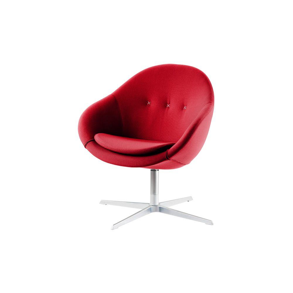 Kokon club ergonomischer drehsessel kokon von vari r in for Sessel in rot