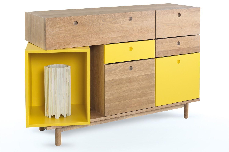 Pandora madia moderna per soggiorno in legno di rovere for Madia moderna calligaris