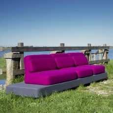 Quid - Design sofa by Adrenalina, available in 3 places, different color combinations