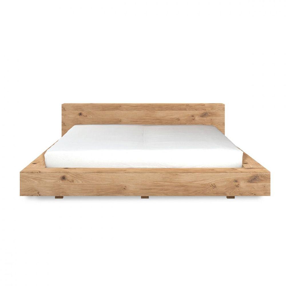 Madra cama matrimonial ethnicraft con estructura de for Medidas de cama matrimonial