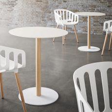Tatami - Basamento per tavolo da bar, in metallo, altezza 73 cm o 110 cm, disponibili diverse finiture