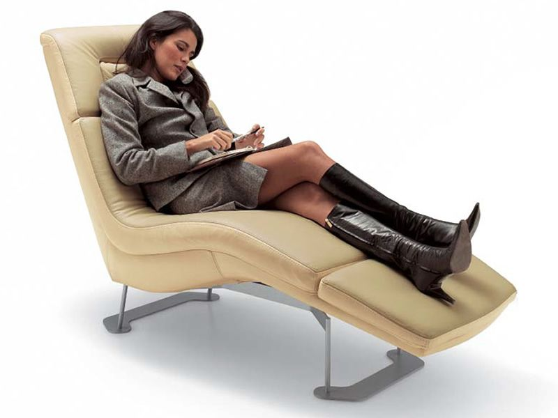 Matrix relax chaise longue moderne en diff rents tissus for Chaise longue relax