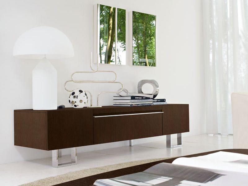 Cs6019 2 domino meuble bloc tiroir porte tv calligaris for Meuble calligaris