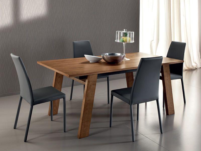 Must 182 tavolo domitalia in legno con piano in for Tavolo legno frassino