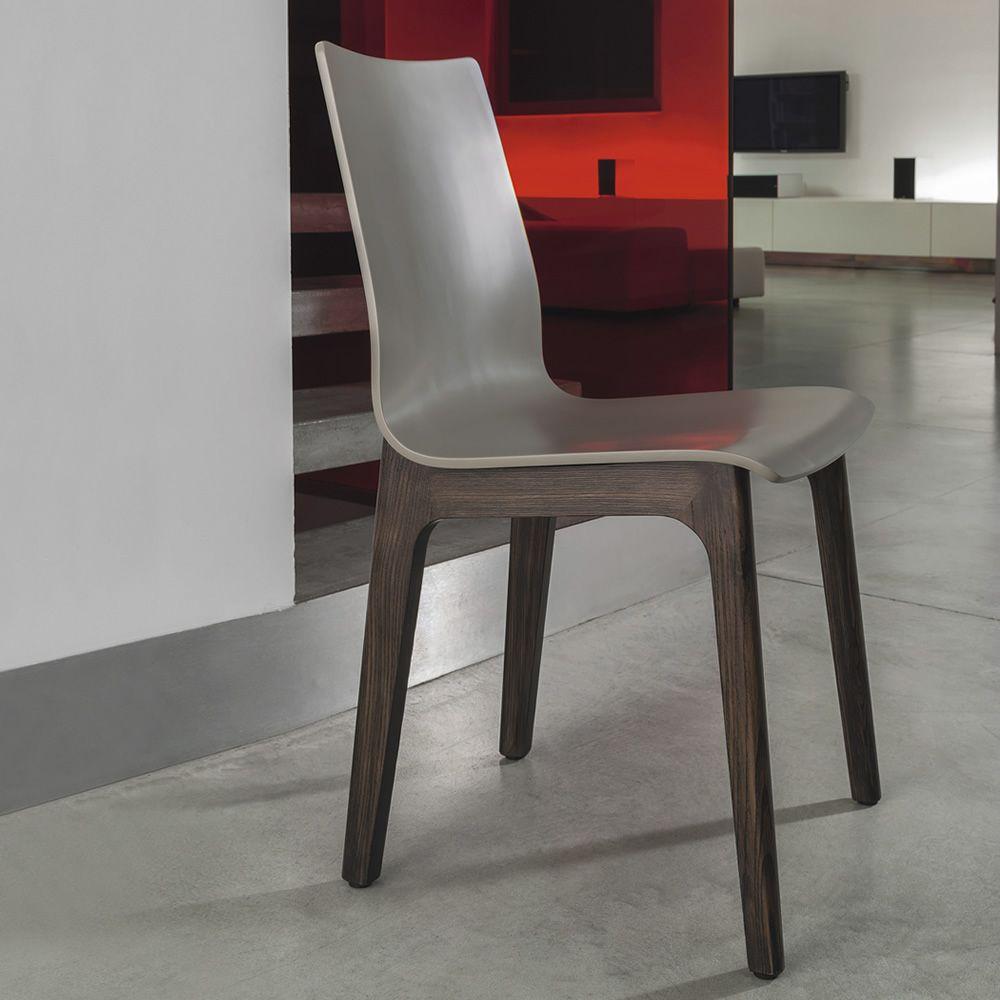 Alfa wood sedia di design bontempi casa in legno for Sedia design legno curvato