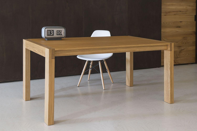 Tavolo 03 tavolo allungabile in legno di rovere piano for Tavola allungabile