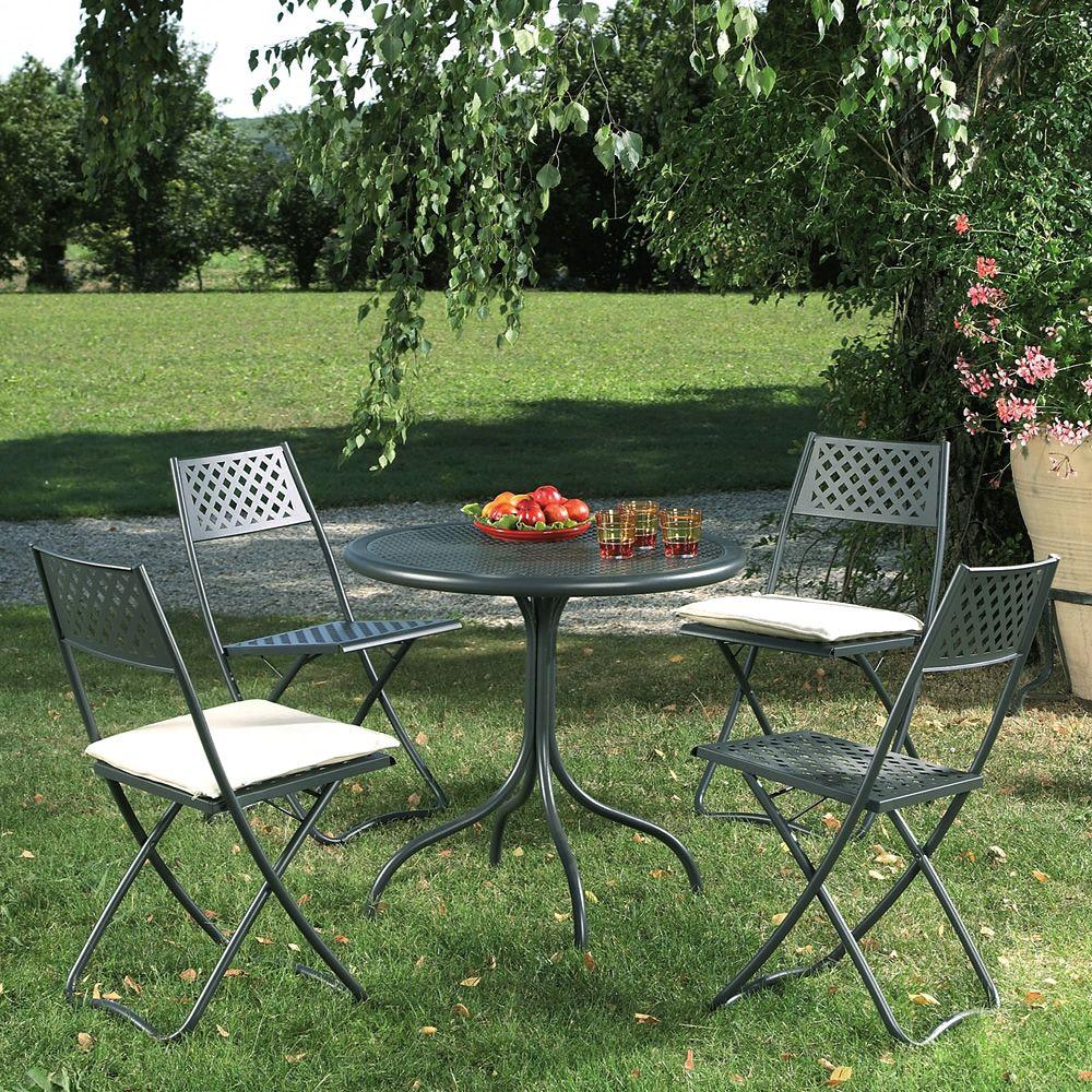 Rig39 tavolo rotondo in metallo piano in lamiera for Tavolo giardino metallo