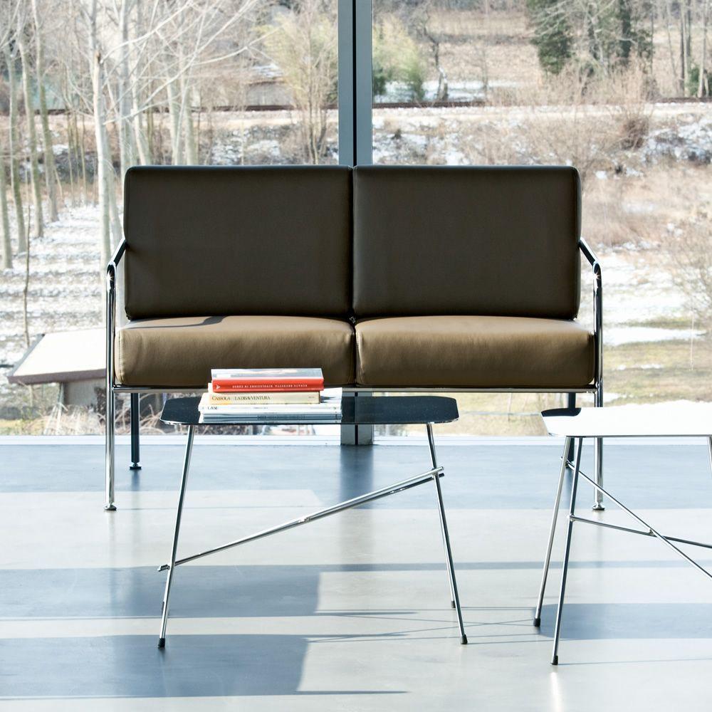 Billy 2 divano moderno midj in metallo seduta in pelle similpelle o tessuto sediarreda - Divano pelle o tessuto ...