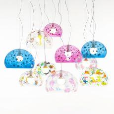 FL - Y Kids - Lámpara de suspensión Kartell, en metacrilato transparente, disponible en distintos colores