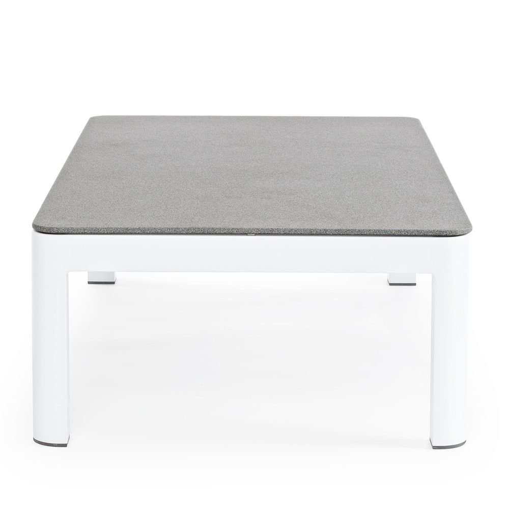 Zante t table basse design avec structure en aluminium et plateau en verre - Table basse en pierre naturelle ...