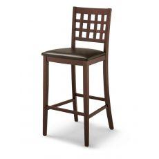 CB1190 Suite - Taburete de madera Connubia - Calligaris con asiento tapizado en eco cuero, altura asiento 65 cms