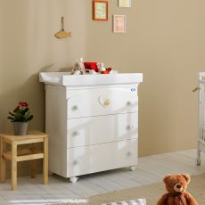Belle F - Pali changing table-baby bath, with 3 drawers