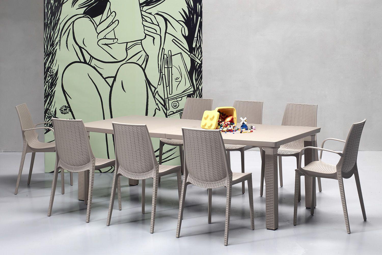 Lucrezia 2323 chaise en technopolym re empilable disponible en diff rentes couleurs aussi - Chaise jardin couleur ...
