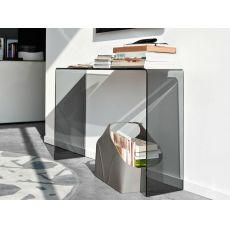 CB5077 Enter - Consolle Connubia - Calligaris in vetro curvato, 110 x 33 cm