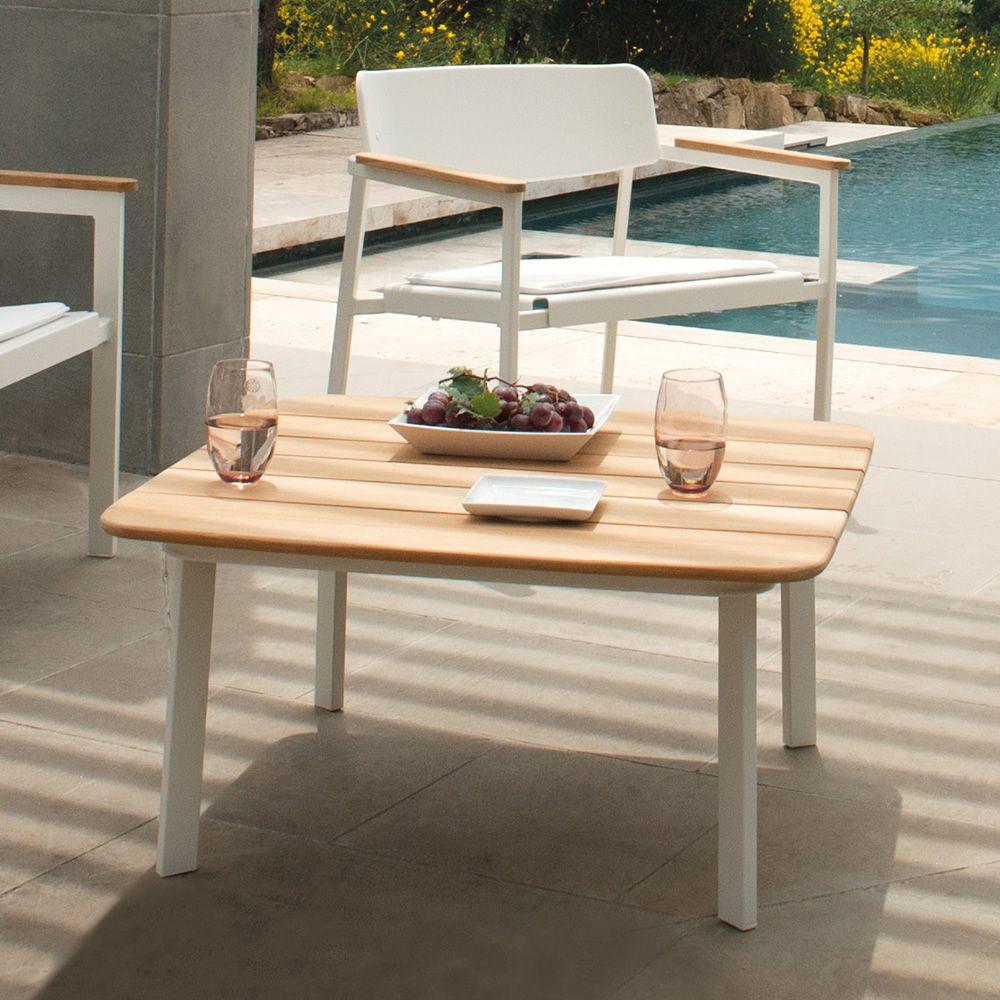 shine b table basse emu en aluminium plan de travail carr pour jardin sediarreda. Black Bedroom Furniture Sets. Home Design Ideas