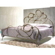 Anemone - Letto matrimoniale in ferro forgiato a mano, disponibile in diversi colori