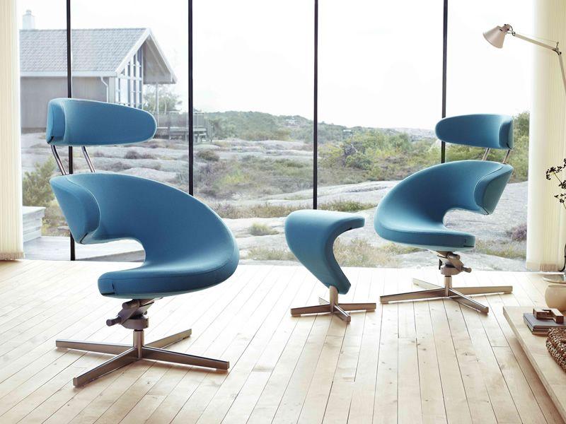 Peel™   Ergonomic Armchairs With Footrest ...