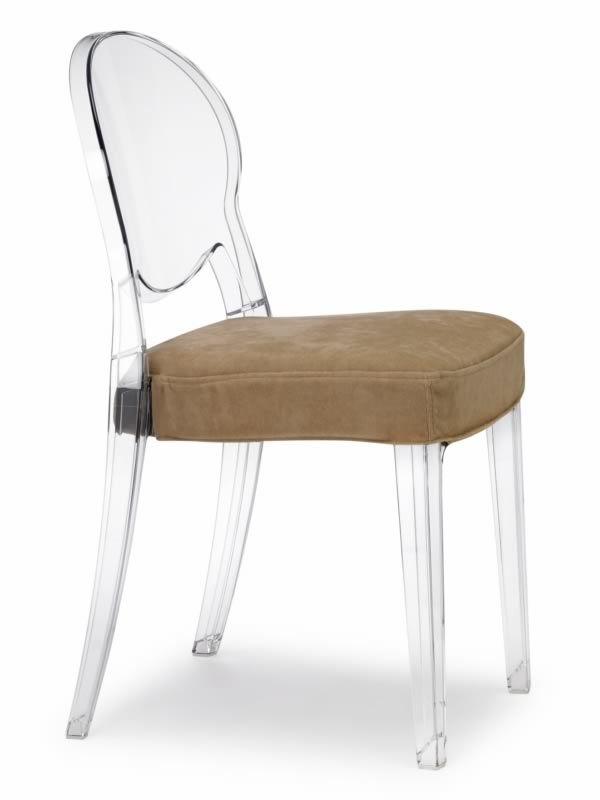 Igloo chair sedia trasparente con cuscino in vellutino with sedie trasparenti - Sedia trasparente ikea ...