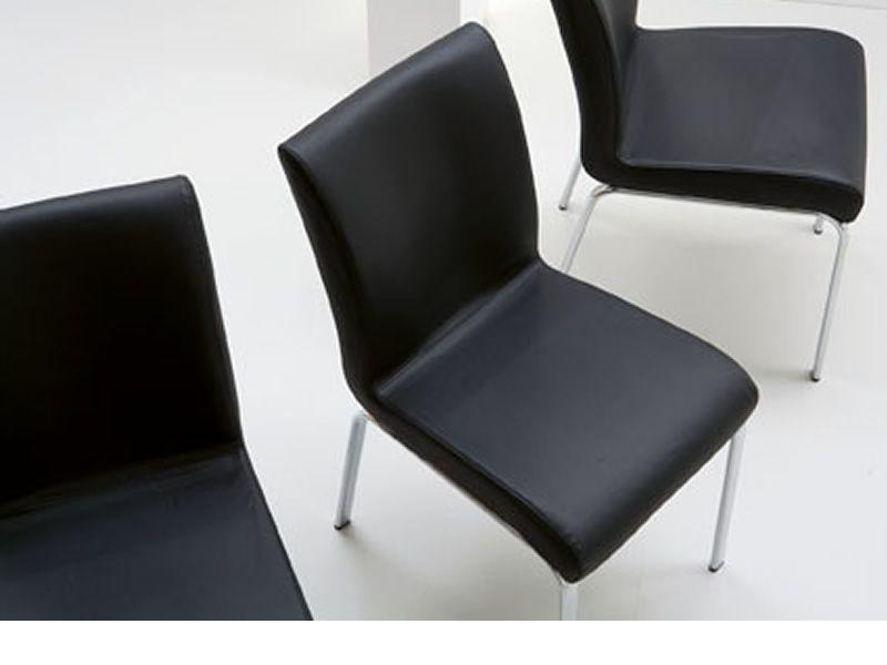 stone stuhl midj aus metall mit bezug aus leder kunstleder oder stoff sediarreda. Black Bedroom Furniture Sets. Home Design Ideas
