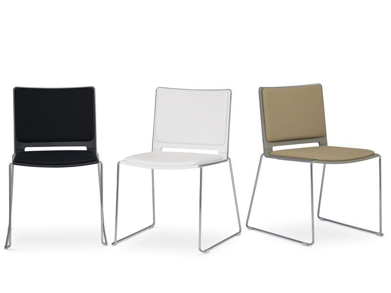 ml170 stapelbarer stuhl aus metall und polypropylen. Black Bedroom Furniture Sets. Home Design Ideas