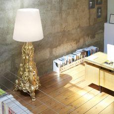 Madame of Love - Slide polyethylene floor lamp, different colours, also for garden