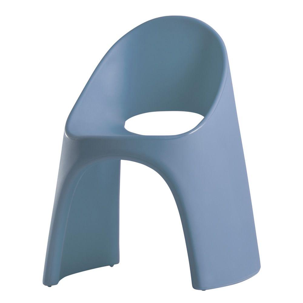 Am lie sedia slide in polietilene impilabile anche per for Sedie blu cucina